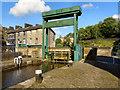 SD9324 : Rochdale Canal Lock 19 and Rochdale Road Bridge by David Dixon