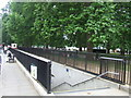 TQ2780 : Subway steps on Park Lane by Malc McDonald