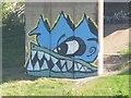 NZ2463 : Graffiti on the Viaduct by Bill Nicholls