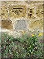 NZ3804 : Bench Mark, St Mary's Church by Maigheach-gheal