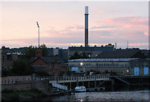SK5838 : Pink sky over Meadow Lane Lock by John Sutton