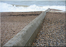 TQ2804 : Concrete groyne - Hove beach by Sandy B