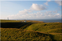 SS9168 : Lighthouses and Iron Age Fort - Nash Point by Mick Lobb