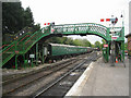 SU5832 : Alresford Station footbridge by Given Up