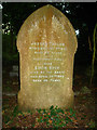SU6859 : Tombstone in All Saints churchyard by Given Up