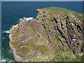 SW9881 : Cliff at Varley Head by Derek Harper
