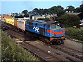 J5081 : Weed control train leaving Bangor station by The Carlisle Kid