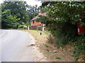 TM2443 : Brightwell Road & Brook Cottage Postbox by Adrian Cable