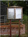 TM2543 : Brightwell Village Notice Board by Adrian Cable