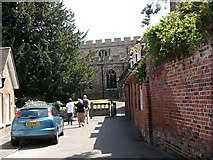 TL6706 : Entrance to All Saints Church, Writtle, Essex by Gill Edwards