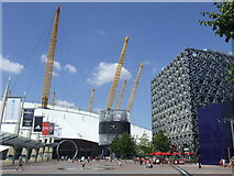 TQ3979 : In front of the O2, North Greenwich by Malc McDonald