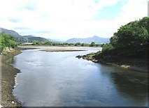 SH5738 : Lagoon at the start of the Afon Glaslyn by Derek Voller