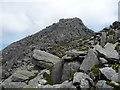 SH6659 : Rocky terrain on Tryfan by Jeremy Bolwell