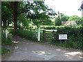 SU9699 : Driveway and footpath, Chesham Bois by Malc McDonald