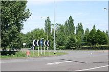 SK2003 : Traffic island, next to Bitterscote Drive  (1) by Chris' Buet