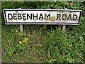 TM1558 : Debenham Road sign by Adrian Cable