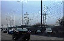 TQ0562 : Pylons by the M25 by N Chadwick