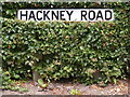 TM3569 : Hackney Road sign by Adrian Cable