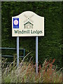 TM2564 : Windmill Lodges Sign by Adrian Cable