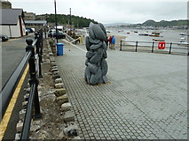 SH7877 : Mussel sculpture near Conwy Bridge by Dave Spicer