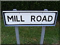 TM2168 : Mill Road sign by Adrian Cable