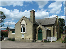 TM3464 : The village hall in Rendham by Evelyn Simak