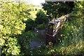 SP5704 : The parapet on the former railway bridge by Steve Daniels
