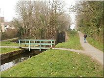 ST2896 : Canal bridge, Five Locks, Cwmbran by Jaggery