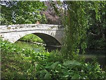 SE7485 : Sinnington Bridge over the River Seven by Pauline E