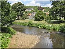 SE7485 : River Seven from Sinnington Bridge by Pauline E