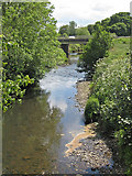 SE7485 : River Seven, downstream from the footbridge by Pauline E