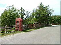 NB9812 : Telephone and Post Box, Altandhu by Dave Fergusson