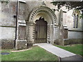 SY8084 : Doorway to St Christopher's church by Anthony Vosper