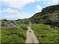 SE1246 : Path looking East below Ilkley Crags by Chris Heaton