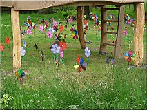 """NY4348 : """"Wooshy Spinny"""" - windmills at Wreay Primary School by Oliver Dixon"""