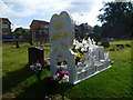 TQ4768 : Traveller's grave in St Mary Cray Cemetery by Marathon