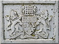TQ2683 : Arms of the former Metropolitan Borough of Westminster on the drinking fountain, Violet Hill Gardens by Mike Quinn