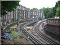 TQ2478 : District Line near West Kensington by Malc McDonald