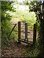 TM2356 : Footpath gate of the footpath to Monewden Road by Adrian Cable