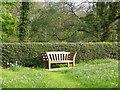 SD5146 : Memorial seat, All Saints' Church by Maigheach-gheal