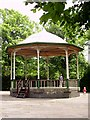 SJ9042 : Bandstand, Longton Park, nr Dresden by Carl Farnell
