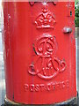 TQ2782 : Edward VII postbox, St. John's Wood High Street / Greenberry Street, NW8 - royal cipher by Mike Quinn