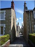 SU1484 : Looking along an alley in Swindon Railway Village by Marathon