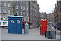 NT2573 : Police box and telephone kiosk, Grassmarket by N Chadwick