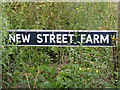 TM2763 : New Street Farm sign by Adrian Cable