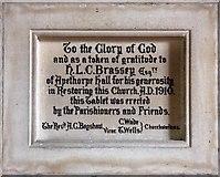 TL0394 : St Mary, Woodnewton - Memorial by John Salmon