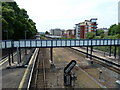 SX9293 : Foot bridge, Exeter Central Station by Chris Allen