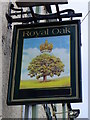 NZ1320 : Sign for the Royal Oak by Maigheach-gheal