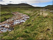 NN5264 : Allt Ghlas and the road to Loch Ericht by wrobison