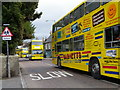 NZ1320 : Big yellow buses, Staindrop by Maigheach-gheal